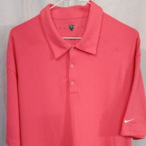 Nike Hot Pink Athletic Polo Shirt (XL)